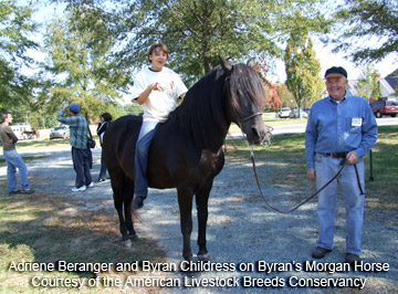 Byran Childress and his Morgan
